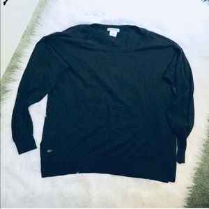 Lacoste basic black long sleeve top